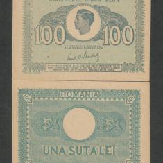 ROMANIA  MIHAI I  100  LEI  1945  [1]  a UNC  /  UNC - necirculata