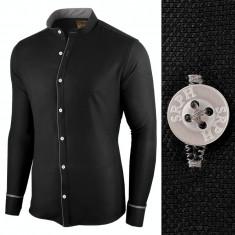 Camasa pentru barbati, neagra, slim fit - Neo Elegance, 3XL, L, M, S, XL, XXL
