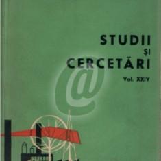 Studii si cercetari vol. XXIV