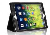 Husa Tableta iPad Air 2 (6), Neagra, tip Carte, din piele Eco TAB129, 9.7 inch