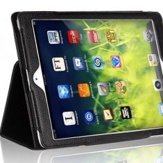 Husa Tableta iPad Air 2 (6), Neagra, tip Carte, din piele Eco TAB129