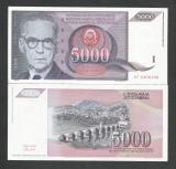IUGOSLAVIA  5.000  5000  DINARI  DINARA  1991  UNC [1] P - 111 a  ,  necirculata