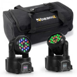 Beamz Set de efecte de iluminat cu sac de transport, 2 x LED -108 + 1 x geanta