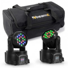 Beamz Set de efecte de iluminat cu sac de transport, 2 x LED -108 + 1 x geanta