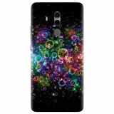 Husa silicon pentru Huawei Mate 10, Rainbow Colored Soap Bubbles