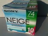 MiniDisc Sony NEIGE lot 10 buc. Sigilate minidisc Digital MD Sony Blank Japonia