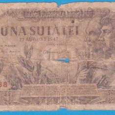 (2) BANCNOTA ROMANIA - 100 LEI 1947 (27 AUGUST 1947)