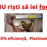 Sursa de minat mining profesionala HP 2450w 92% eficienta platinum. Garantie