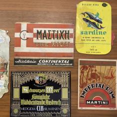 Etichete bauturi conserve comuniste Martini Sardine Medgidia