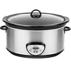 Oala electrica Slow cooker ECG PH 6520, 320 W, 6.5 L, timer digital