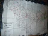 Harta mare a Judetului TIMIS 1984 ,dim.= 184x120cm  RSR Inst. Geodezie si Organi