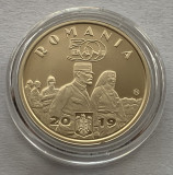 50 Bani 2019 Romania, Regina Maria, PROOF, in capsula, Alama