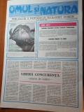 ziarul omul si natura anul 1,nr.1 din 29 martie 1990-prima aparitie a ziarului
