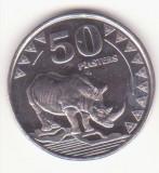 Sudanul de Sud 50 piasters 2015 UNC -Rinocerul alb nordic- KM# 3, Schön# 3