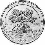 USA/SUA - Quarter 2020 - P&D SALT RIVER BAY  - set 2 bucati, America de Nord, Cupru-Nichel