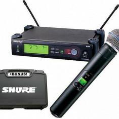 Microfon fara fir SHURE SLX2 / BETA 58A Bonus geanta transport