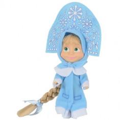 Papusa Masha 12 cm, Masha in Costum de Iarna