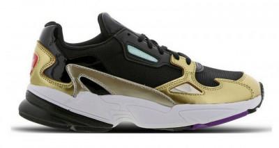 Pantofi sport Adidas Falcon culoare negru auriu ,marimea 42 foto