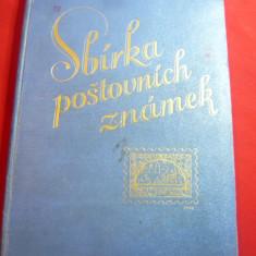 Schaubek cu 40 timbre romanesti lipite si 25  timbre staine Ed.Praga