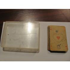 CY Lot carti de joc: cutie plexi pentru 2 perechi + set foarte vechi incomplet