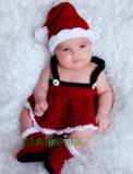 Costum crosetat bebelusi Craciun/craciunita sedinte foto