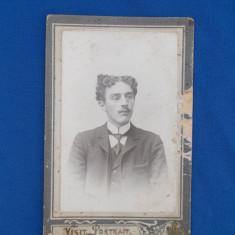 FOTOGRAFIE VECHE PE SUPORT DE CARTON , VISIT PORTRAIT , IONEL N. SARULEANU ,1905