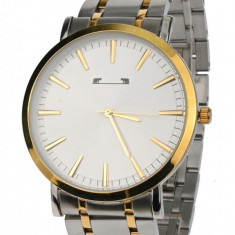 Ceas de mana barbati elegant, Argintiu/Auriu Matteo Ferari - MF10027SILVERGA