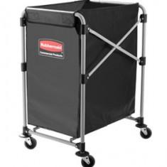 Carucior X-Cart pliant pentru rufe, 150 L, gri, RUBBERMAID