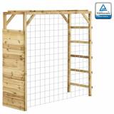 Cadru de cățărare cu poartă de fotbal, 170x60x170 cm, lemn pin, vidaXL