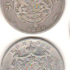SV * Romania LOT 2 x 5 LEI 1880 * AG .835 * ambele variante cu semnatura Kulrich