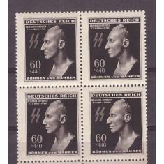 Bohemia&Moravia 1943 Moartea lui Heydrich, bloc de 4 neuzat