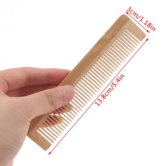 Pieptene biodegradabil, din bambus, 13.7 cm x 3 cm