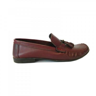 Pantofi pentru barbati din piele naturala, 70s, Goretti, Bordeaux, 40 EU foto