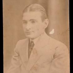 Tanar student cca 1915 - Foto SPLENDID N. Buzdugan Bucuresti, stampila Studio