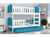 Patut Tineret Pentru Copii 2 in 1 Tami 190x80 - White/Blue