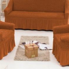 Huse canapea 3 locuri+2 fotolii 311 bumbac elasticizat ,CARAMIZIU