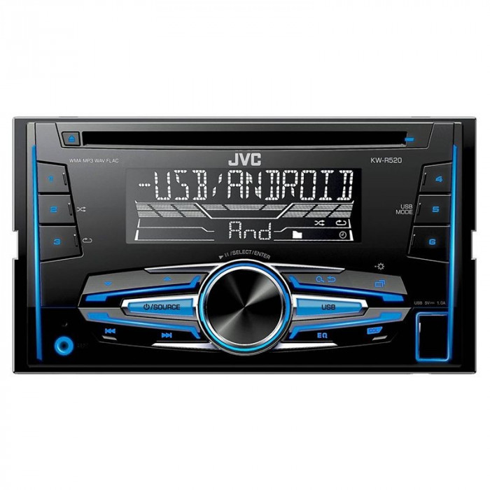 RADIO CD PLAYER 2DIN 4X50W KW-R520 JVC EuroGoods Quality