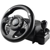 Volan Tracer Drifter USB pentru PC PlayStation 2 si PlayStation 3 Black