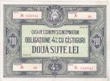 Bnk bn Romania obligatiune CEC RSR 200 lei