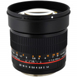 Obiectiv SAMYANG 85mm F1.4 montura Canon. NOU, Autofocus, Canon - EF/EF-S