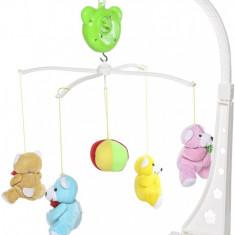Carusel muzical de jucarie pentru bebelus, fara baterii, cu muzica - 6998A