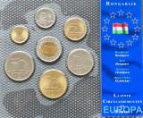 Ungaria set 1995 2003 1 2 5 10 20 50 100 forinti UNC, Europa