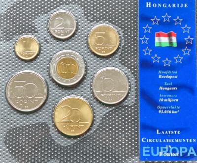 Ungaria set 1995 2003 1 2 5 10 20 50 100 forinti UNC foto