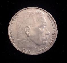 Germania - 2 Reichsmark 1938 G - Argint foto