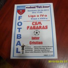 program       CSM  Fagaras  -  Inter  Cristian