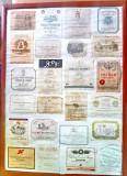 C645-Panou mare 23 reclame Vin vechi colectie anii 1950-1980. Majoritatea 1960.
