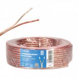 Cablu pentru boxe/difuzor transparent 2 x 2.5mm 10m, Logilink CA1083