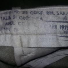 Tinuta militara Ofiter,PANTALON pana pentru cizme material gros nefolo,T.GRATUIT