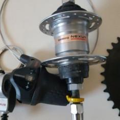 Schimbator viteze bicicleta SHIMANO Nexus 3 + pedalier + aparatoare lant.