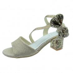 Sandale elegante cu toc fetite MRS M1505, Auriu